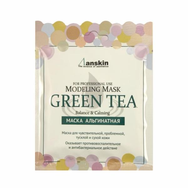 Маска альгинатная с экстр. зел.чая усп. (саше) ANSKIN Original Green Tea Modeling Mask/Refill 25 гр