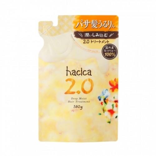 Бальзам-ополаскиватель глубокое увлажнение HACICA Deep Moist Hair Treatment 2.0 сменная упаковка 380 мл