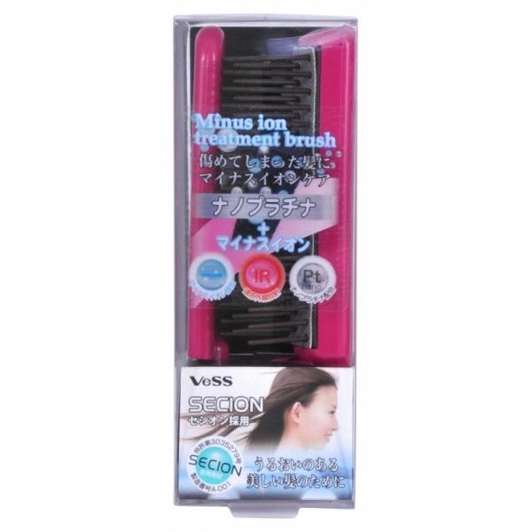 Щетка массажная VESS Secion Brush для ухода за волосами с отрицательно заряженными ионами (складная)