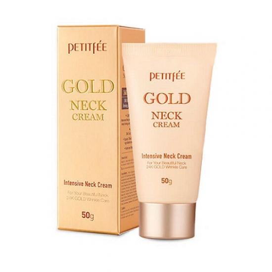 Крем для шеи антивозрастной PETITFEE GOLD INTENSIVE NECK CREAM 50 гр