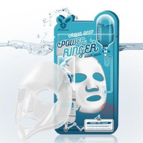 Elizavecca Тканевая маска для лица Увлажняющая с коллагеном и гиалуроной кислотой AQUA DEEP POWER Ringer mask pack 23мл
