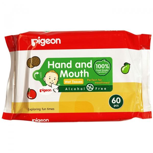 Влажные салфетки PIGEON для сосок, игрушек, фруктов 60 шт