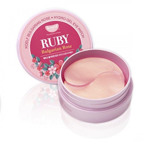 Гидрогелевые патчи для кожи вокруг глаз RubiI & Bulgarian Rose с экстрактом болгарской розы и рубиновой пудры № 60