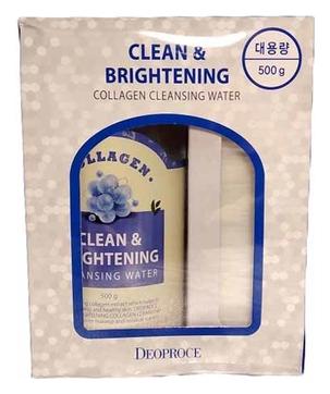 Вода очищающая с коллагеном DEOPROCE CLEAN & BRIGHTENING COLLAGEN CLEANSING WATER 500 гр
