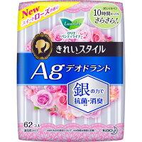 KAO Laurier Beautiful Style Ежедневные гигиенические прокладки с содержанием серебра для удаления запаха аромат розы 14 см