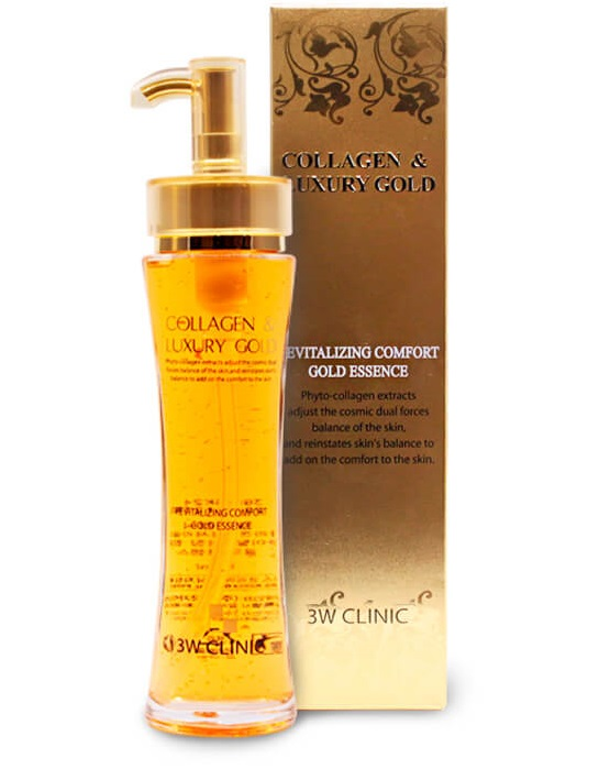 3W Clinic Эссенция для лица жидкий коллаген с золотом Collagen & Luxury Gold Revitalizing 150 мл