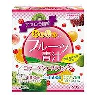 YUWA Аодзиру с коллагеном и плацентой со вкусом фруктов № 20