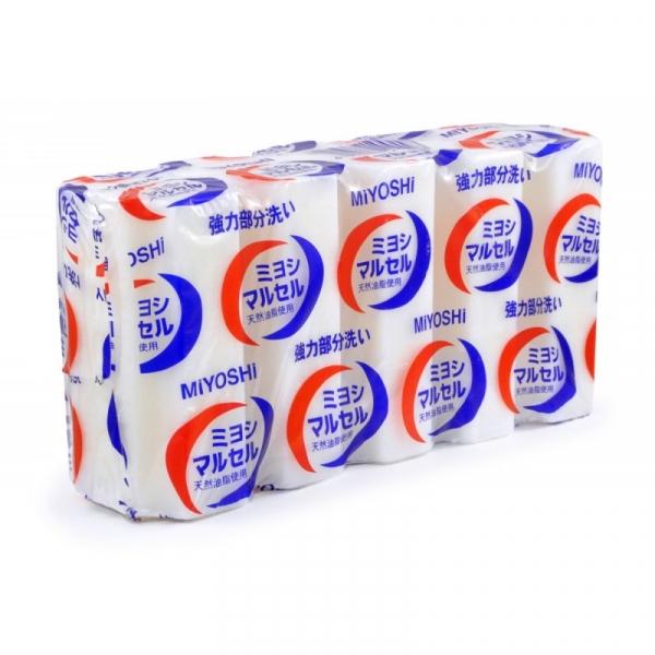 Мыло для стирки MIYOSHI (точечного застирывания стойких загрязнений), 140г х5