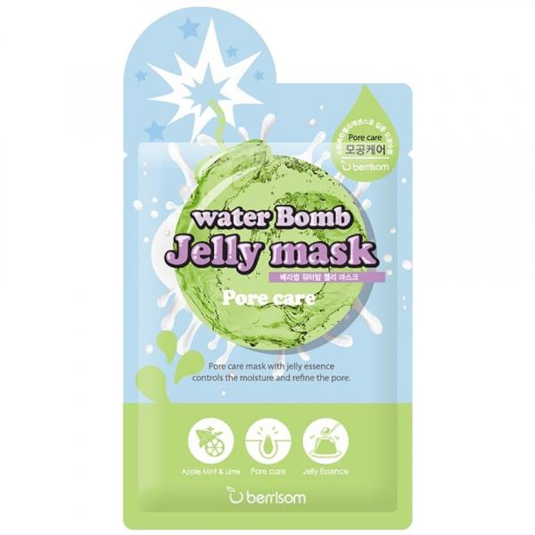 Маска для лица с желе сужающая поры Berrisom water Bomb Jelly mask Pore care 33 мл