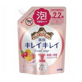 LION KireiKirei Мыло-пенка для рук с ароматом микса фруктов 450 мл