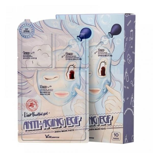 3-шаговая маска для лица антивозрастная ELIZAVECCA 3-step anti-aging EGF mask pack 25мл/2*2мл