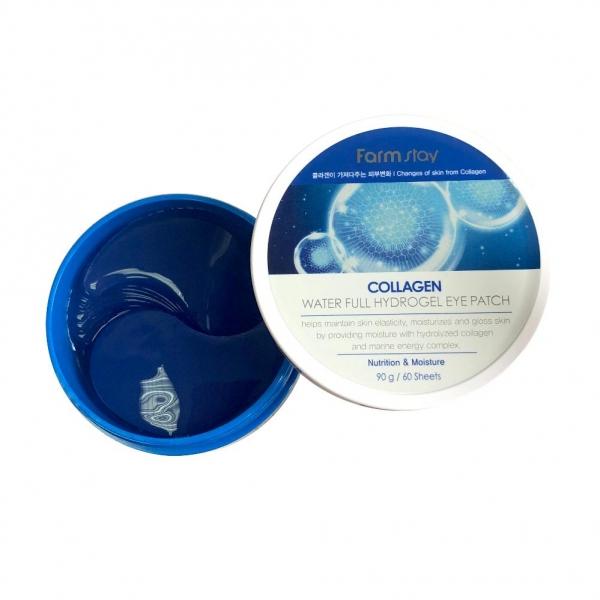 FARMSTAY Collagen Water Full Hydrogel Eye Patch Гидрогелевые патчи c коллагеном для кожи глазами № 60