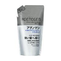 Shiseido Adenogen Шампунь от выпадения и стимулирования роста волос для сухой кожи головы сменный блок 310 мл