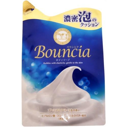 """COW Сливочное жидкое мыло """"Bouncia"""" для рук и тела с нежным свежим ароматом (мягкая упаковка) 400 мл"""