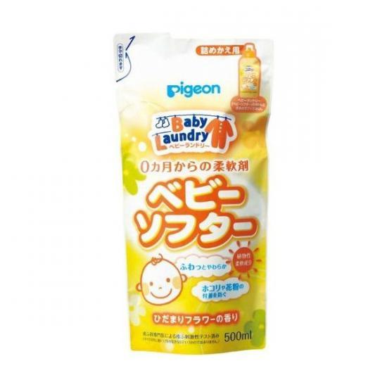 PIGEON Кондиционер для детского белья Солнечные цветы запасной блок 500 мл