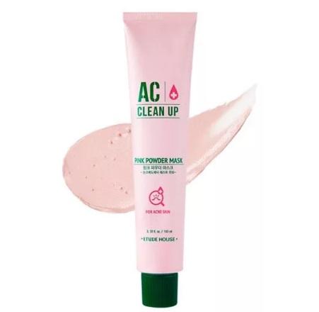 Маска для проблемной кожи с розовой глиной ETUDE HOUSE AC Clean Up Pink Powder Mask 100 мл