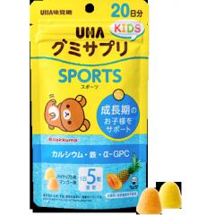 UHA Kids Sports Вкусные жевательные витамины с соком манго и ананаса с кальцием и железом № 100