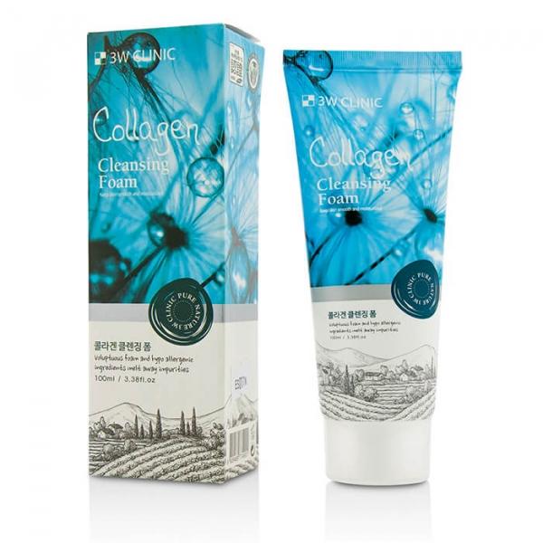 Очищающая пенка 3W Clinic Collagen Foam Cleansing