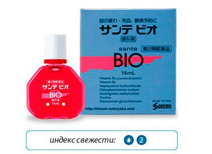 Японские капли для глаз Sante BIO