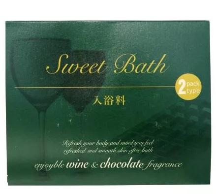 Соль для ванны с расслабляющим эффектом с винным ароматом и ароматом шоколада Fuso Kagaku Sweet Bath 2 пакетика 20 гр 1/200