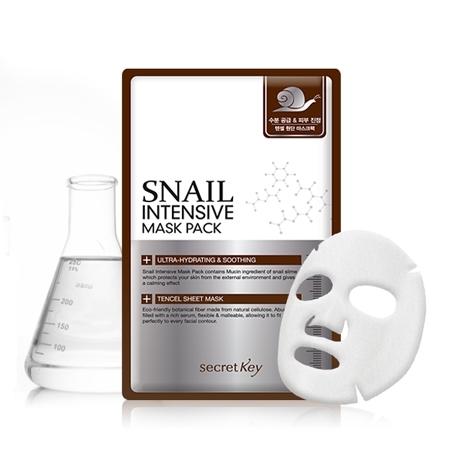 Маска для лица тканевая с муцином улитки SECRET KEY Snail Intensive Mask Pack 1P(sheet) 20 гр