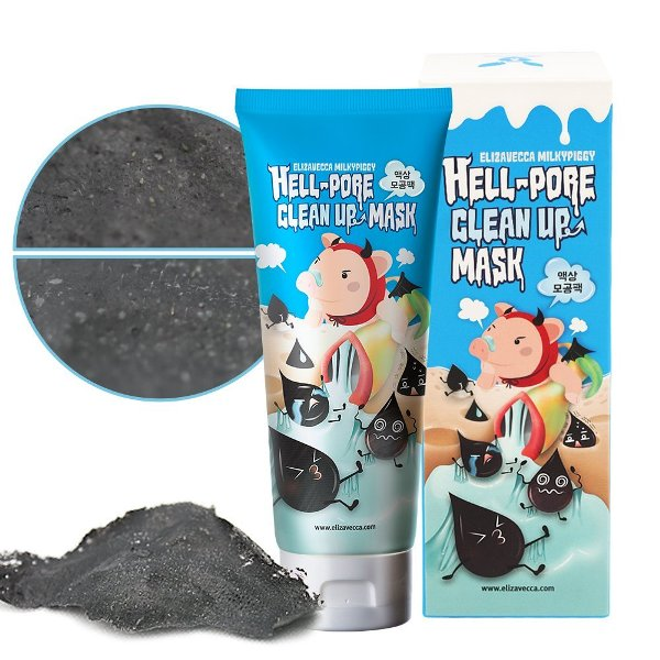 Elizavecca Черная маска-пленка для лица очищающая Hell Pore Clean Up Mask 100 мл