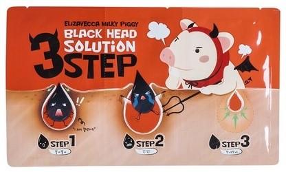 ЕЛЗ Milky Piggy Набор для удаления черных точек Black Head Solution 3 Step  6 гр
