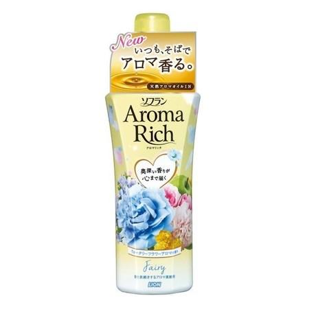 LION Soflan Aroma Rich Fairy Кондиционер для белья с богатым ароматом натуральных масел 550 мл