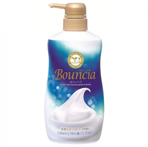 Мыло жидкое для тела Milky Body Soap Bouncia увлажняющее, со сливками и коллагеном 550 мл