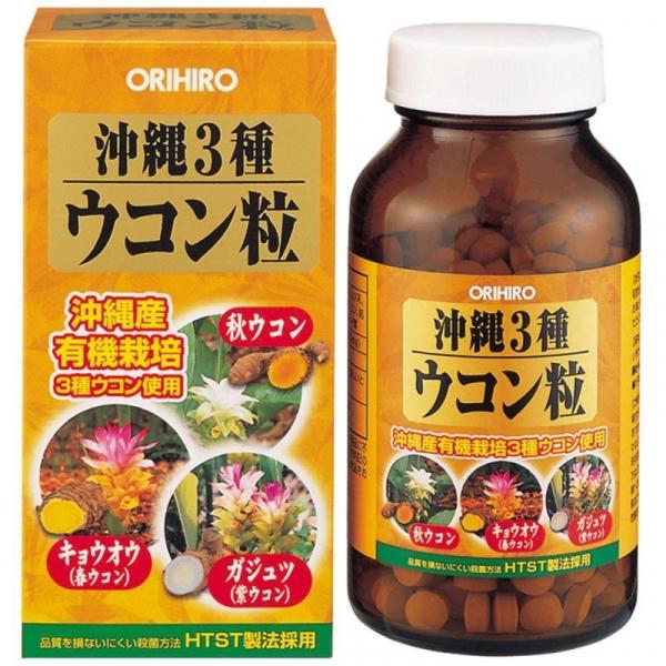 Orihiro Комплекс для восстановления печени 3 вида куркумы № 420