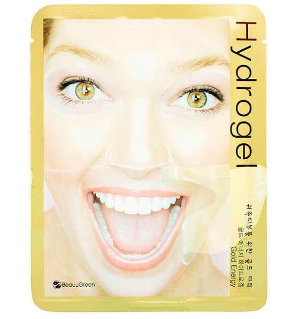 Гидрогелевая маска для лица с наночастицами коллоидного золота BeauuGreen Hydrogel Gold Energy Mask