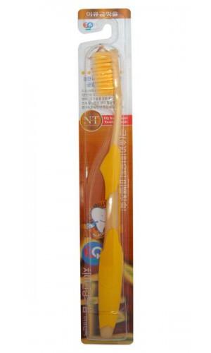 Nano Gold Toothbrush / Зубная щетка c наночастицами золота, сверхтонкой двойной щетиной, средней жесткости, стандартная чистящая головка, прямая ручка