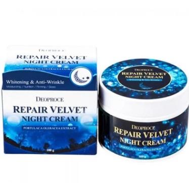 Крем для лица ночной восстанавливающий DEOPROCE MOISTURE REPAIR VELVET NIGHT CREAM 100 гр