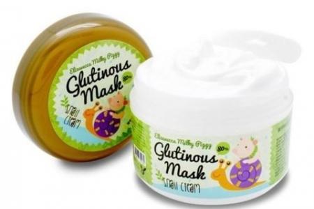 ELIZAVECCA Milky Piggy Крем-маска ночная с муцином улитки Glutinous Mask 80% Snail Cream 100 гр