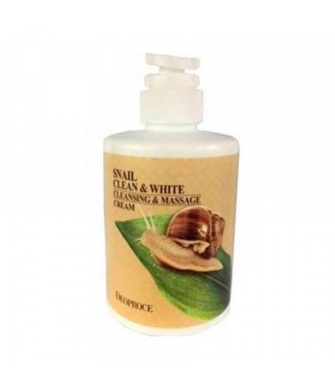 ДП Крем для тела массажный очищающий улиточный DEOPROCE SNAIL CLEAN & WHITE CLEANSING & MASSAGE CREAM 450мл