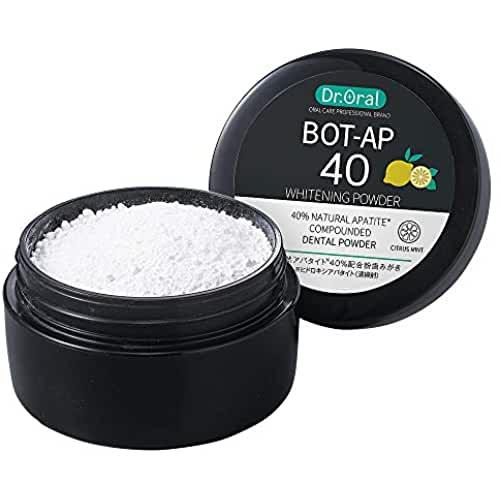 Отбеливающий зубной порошок Dr. Oral Bot-Ap 40 Whitening Powder с наногидроксилоапатитом из гребешков и лизатом лактобактерий цитрусовый аромат 25 гр
