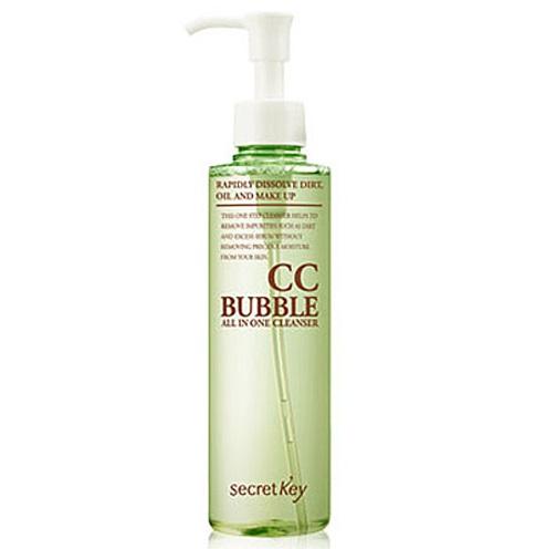 Средство для снятия бб- и сс-макияжа пенящееся SECRET KEY CC Bubble All in One Cleanser 210 мл