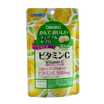 ORIHIRO Жевательный витамин С вкус лимона № 120