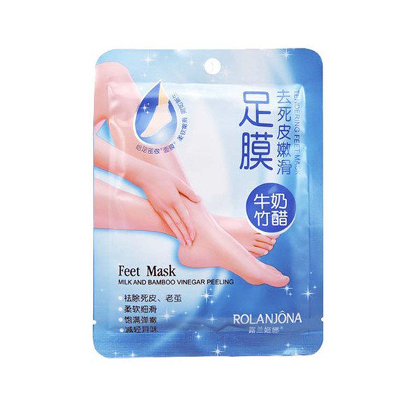 Носочки для педикюра Rolanjona feet mask с молоком и бамбуковым уксусом 1 пара