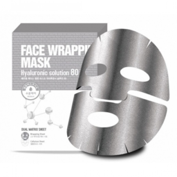 Маска для лица с гиалуроновой кислотой Berrisom Face Wrapping Mask Hyaruronic Solution 80 27 мл