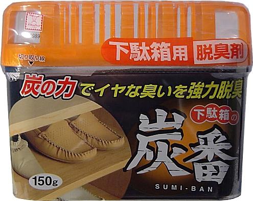 Дезодорант-поглотитель неприятных запахов KOKUBO с древесным углём, для обувных шкафов 150 г