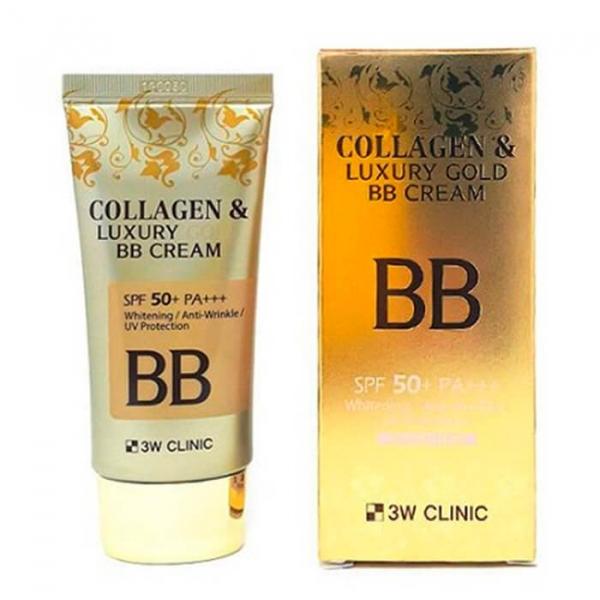 Крем BB 3W CLINIC с КОЛЛАГЕН/ЗОЛОТО Collagen&Luxury Gold