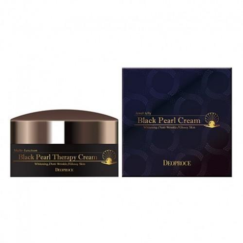Крем для лица с черным жемчугом антивозрастной Deoproce Black Pearl Therapy Cream 100 гр