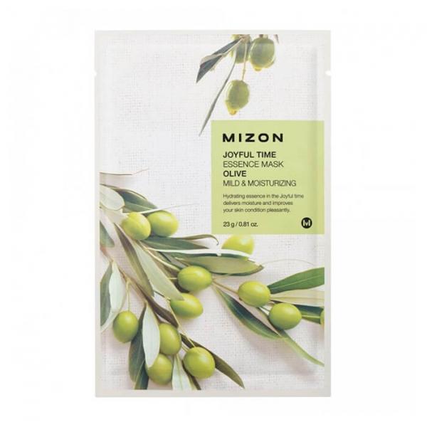 Тканевая маска для лица с экстрактом оливы MIZON Joyful Time Essence Mask Olive 23 г