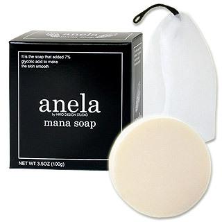 Мыло с гликолиевой кислотой 7% Mana Soap  плюс сеточка для умывания