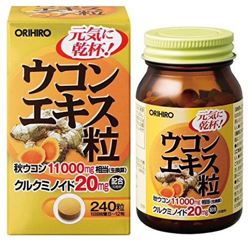 Orihiro Экстракт куркумы для очищения и нормализации работы печени