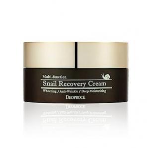 Регенерирующий и восстанавливающий крем с улиточной слизью для лица Deoproce Snail Recovery Cream 100 гр