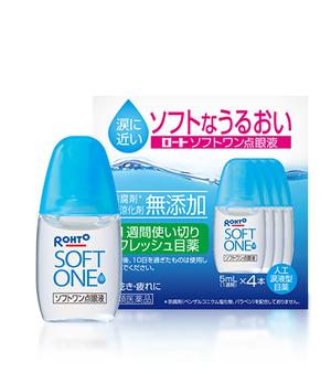 Rohto Soft One Увлажняющие капли для глаз с эффектом искусственной слезы 5 мл № 4
