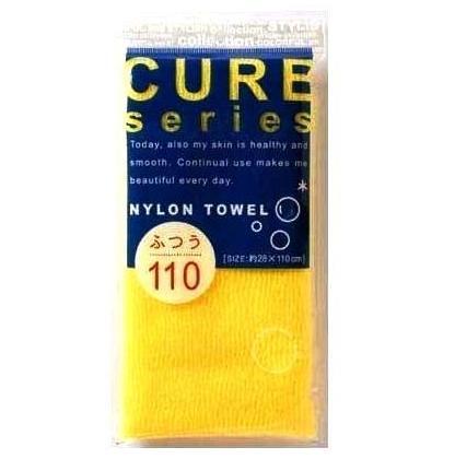 Мочалка для тела OHE CURE series средней жёсткости 110 см (жёлтая) 1/200