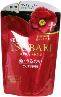 Увлажняющий кондиционер для волос с маслом камелии Tsubaki Extra Moist мягкая упаковка 345 мл